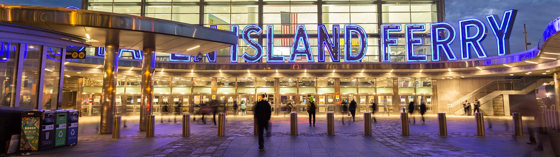 Staten Island Ferry, Staten Island, St George