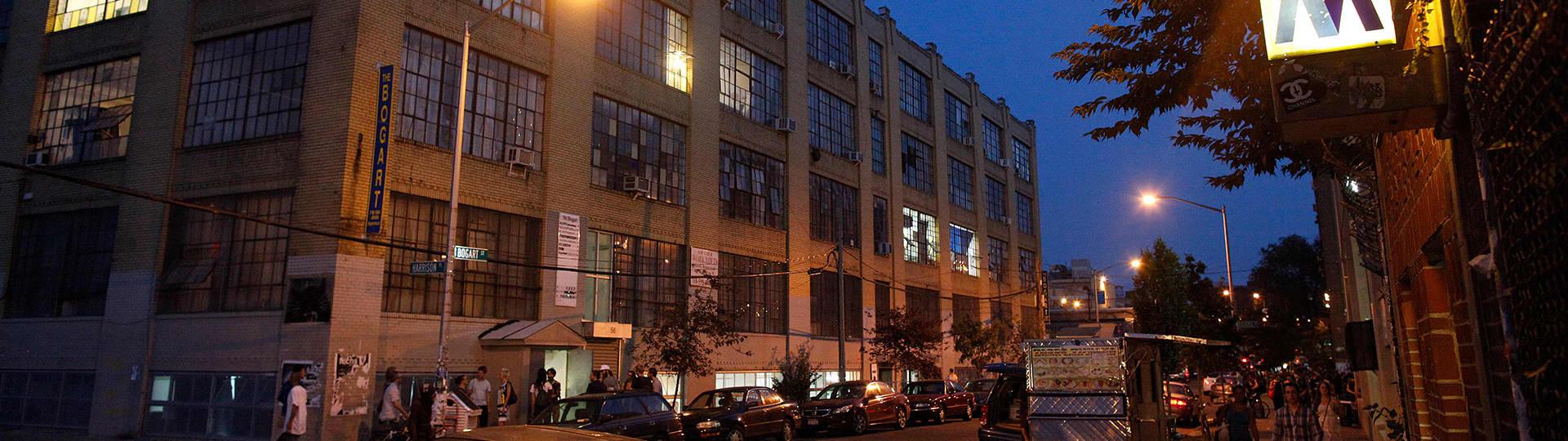 56 Bogart, exterior, night