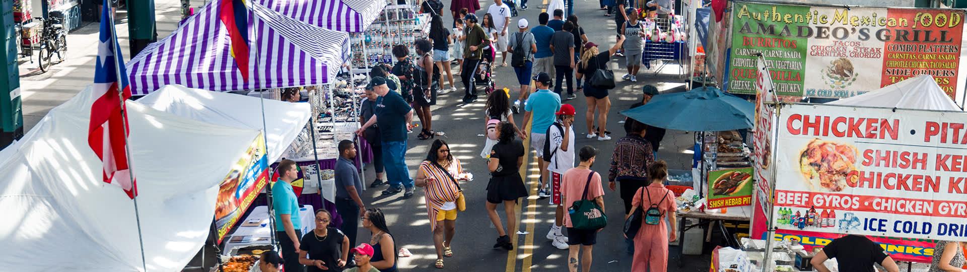 street fair in the south bronx, nyc